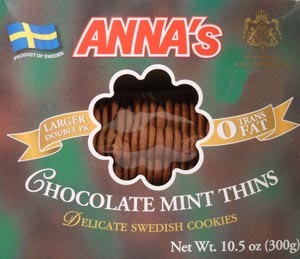 Anna's Chocolate Mint Thins Package