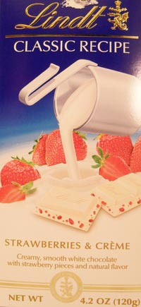 Lindt Strawberries and Cream Package