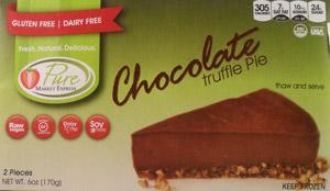 Pure Market Chocolate Truffle Pie (package)