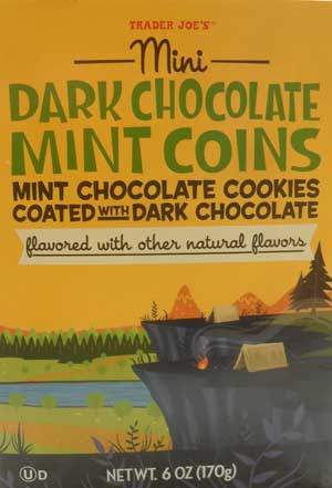 Trader Joe's Mini Dark Chocolate Mint Coins Review | chocolateenmasse.com